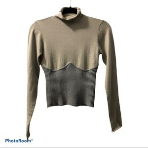 Zara - Ribbed Caged Sweater